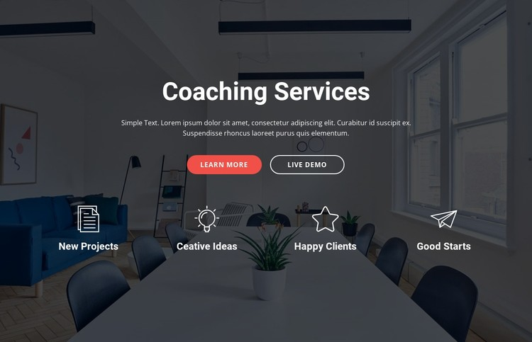 Coaching and consulting  services CSS Template