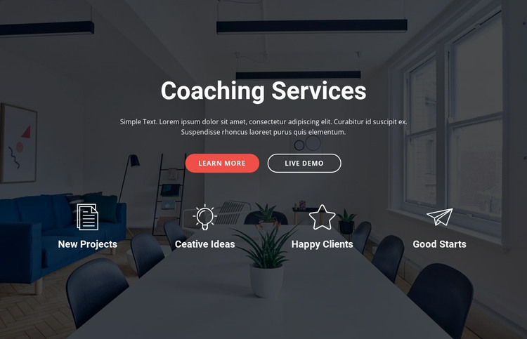 Coaching and consulting  services Web Design