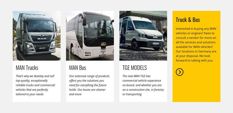 Car logistics and transportation Web Page Design