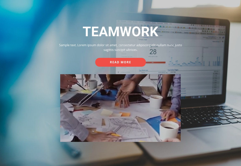 Work Together Beautifully Web Page Design