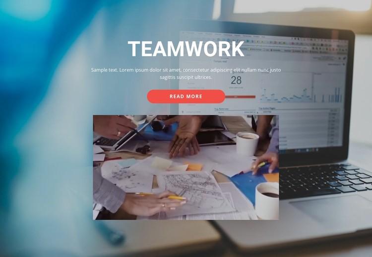 Team building services WordPress Template