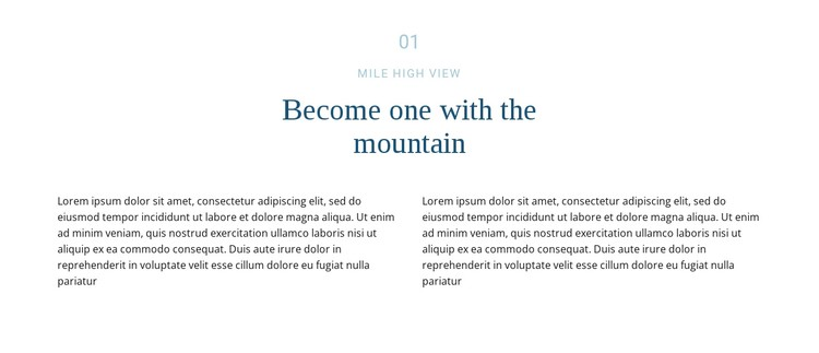 Text about mountain CSS Template