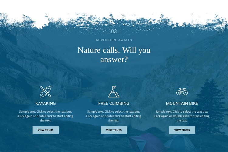 Nature calling CSS Template