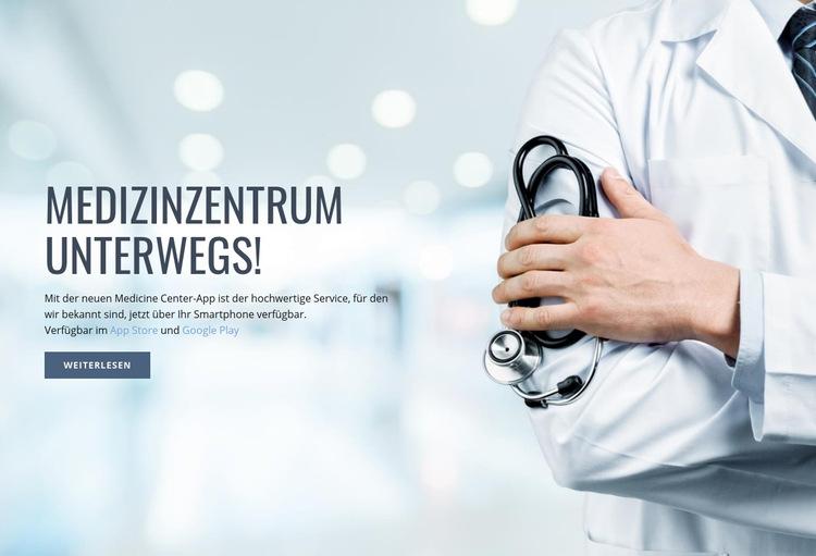 Neues medizinisches Zentrum Website-Vorlage