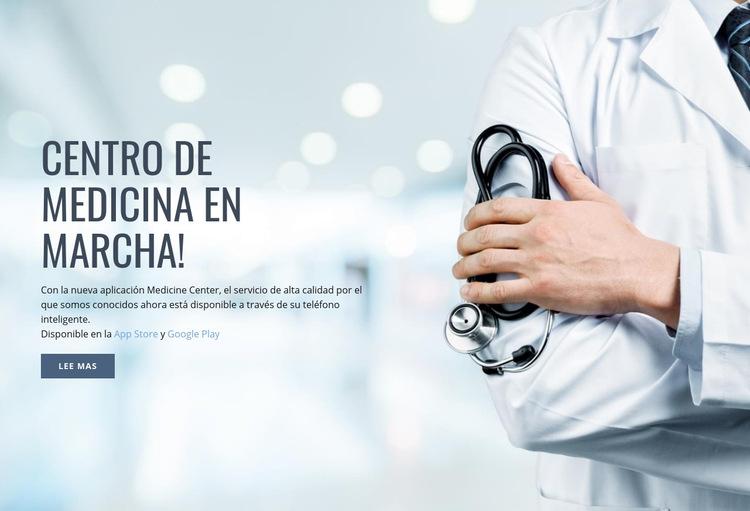 Nuevo centro médico Plantilla de sitio web