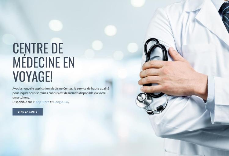 Nouveau centre médical Modèle de site Web