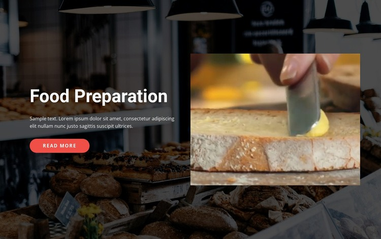 Tasty food preparation Html Code Example
