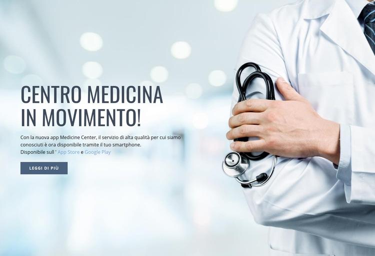 Nuovo centro medico Modello di sito Web