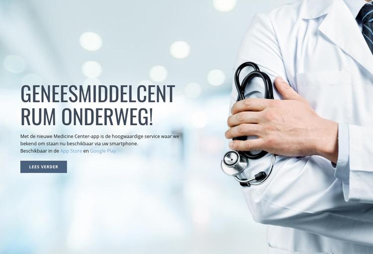 Nieuw medisch centrum Website sjabloon
