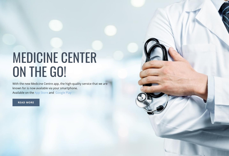 New medical center One Page Template