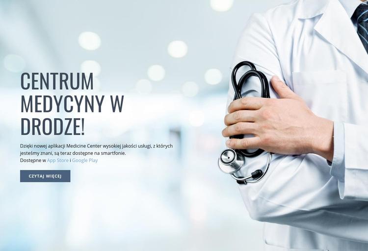 Nowe centrum medyczne Szablon witryny sieci Web