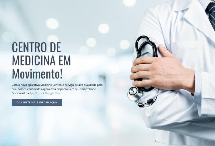 Novo centro médico Modelo de site