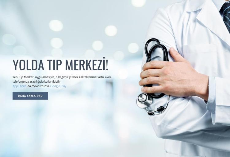 Yeni tıp merkezi Web Sitesi Şablonu
