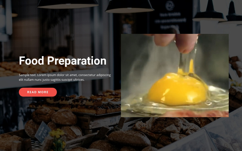 Tasty food preparation Web Page Design