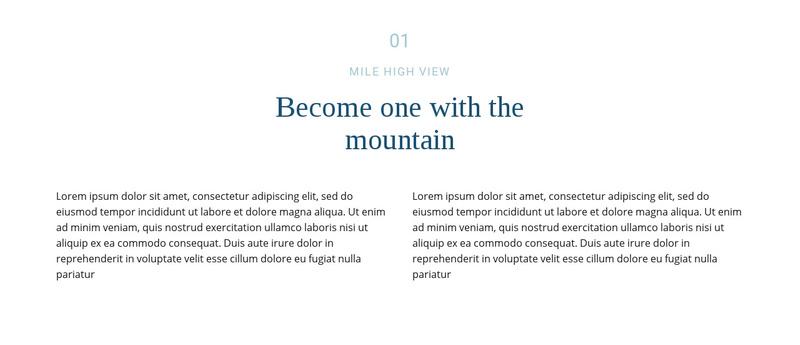 Text about mountain Website Maker
