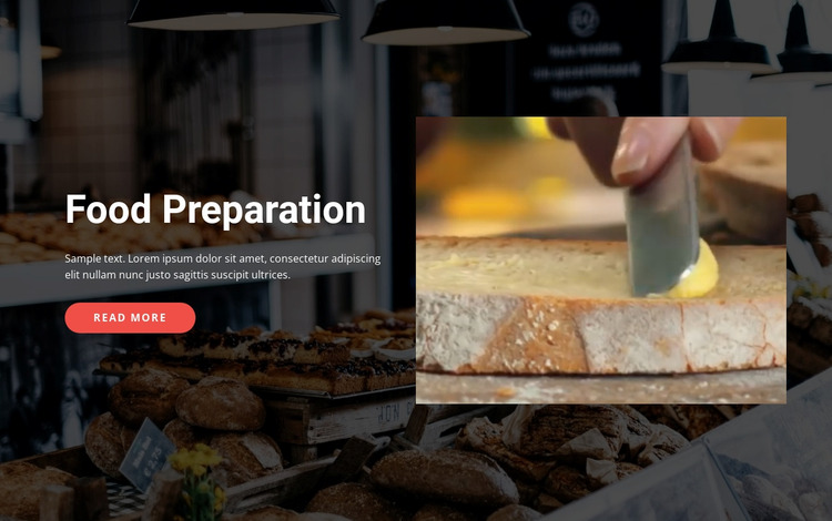 Tasty food preparation WordPress Website Builder