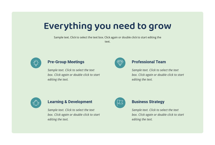 Everything you need to grow HTML Template