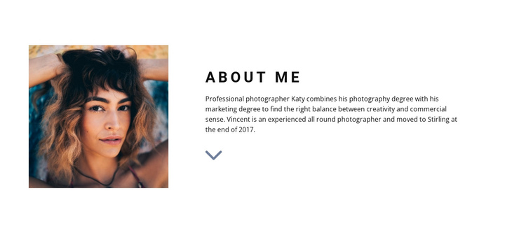 Meet our designer One Page Template