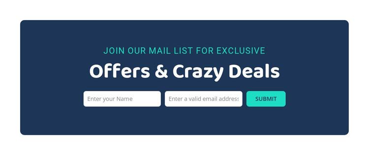 Offers and crazy deals Web Design