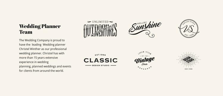 Text and logotype Joomla Template