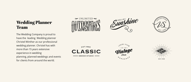 Text and logotype One Page Template