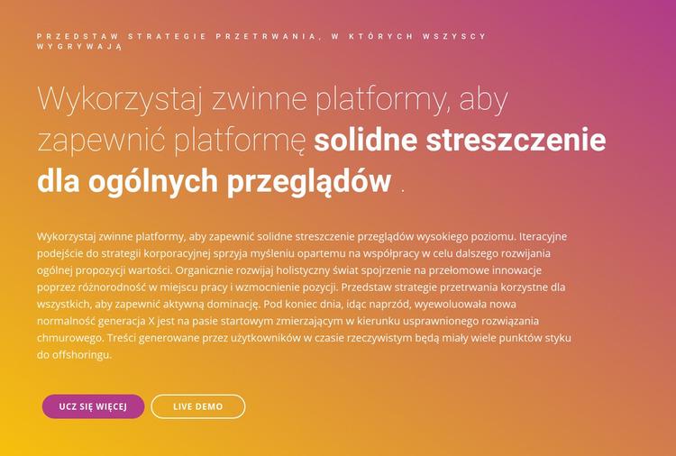 Struktury tekstowe Szablon Joomla