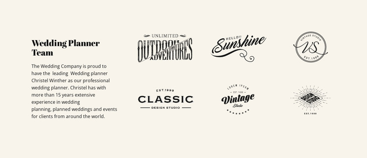 Text and logotype Website Builder Templates