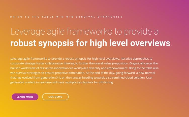 Text frameworks Website Builder Software