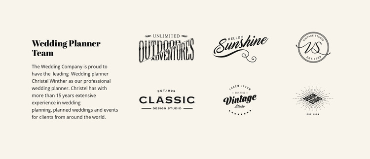 Text and logotype Website Design