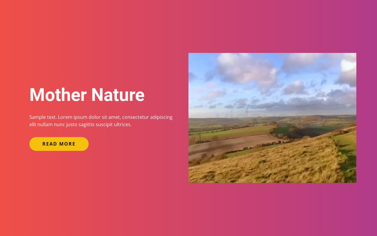 Natural landscapes and islands Website Mockup