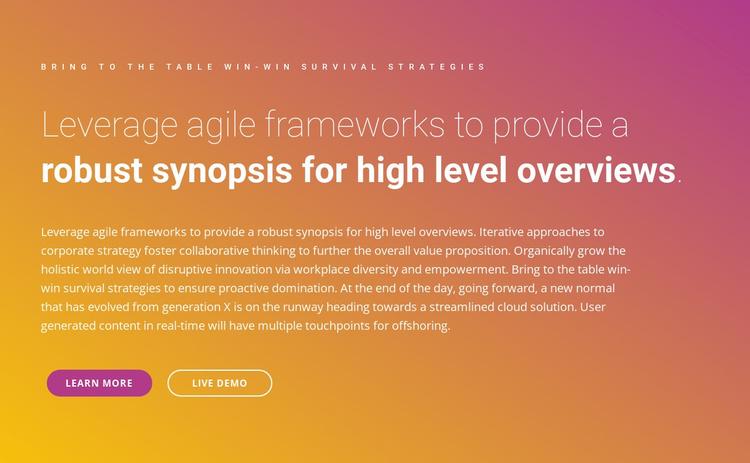 Text frameworks Website Template