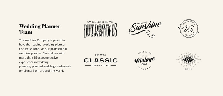 Text and logotype Landing Page