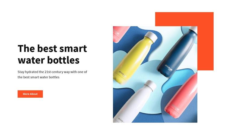Smart water bottles  WordPress Theme