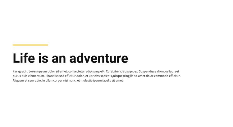 Plain Text life adventure HTML5 Template