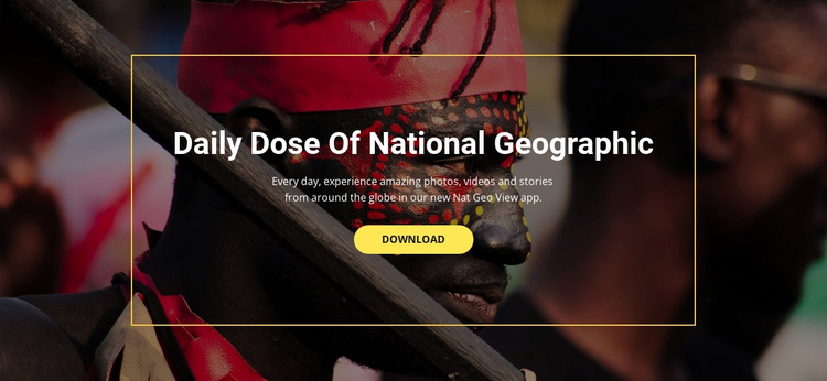 National geographic Website Template