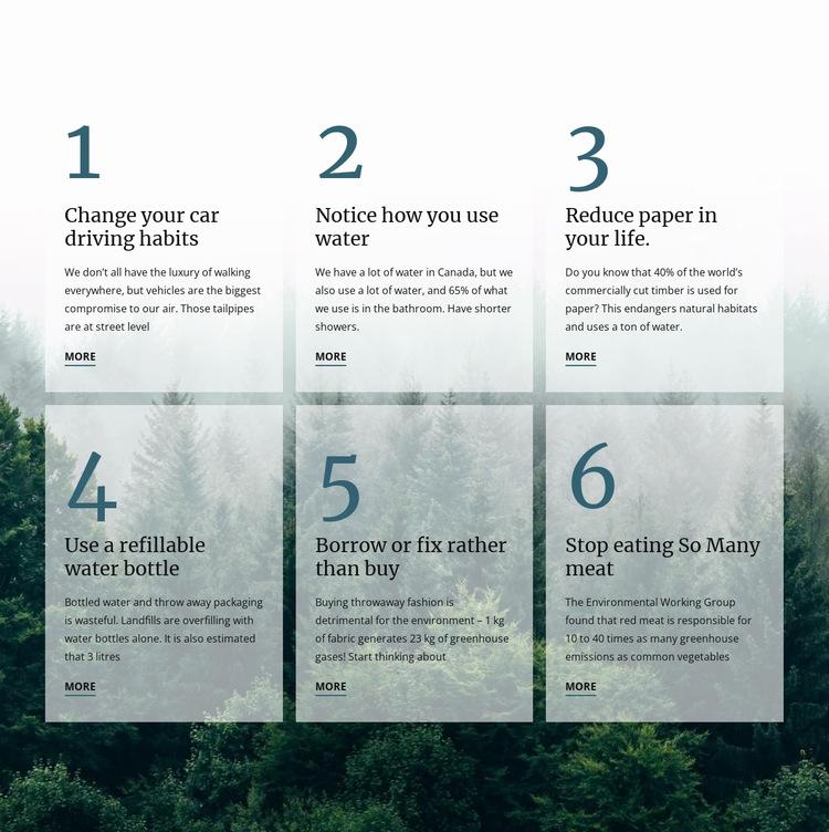 6 good green habits HTML5 Template