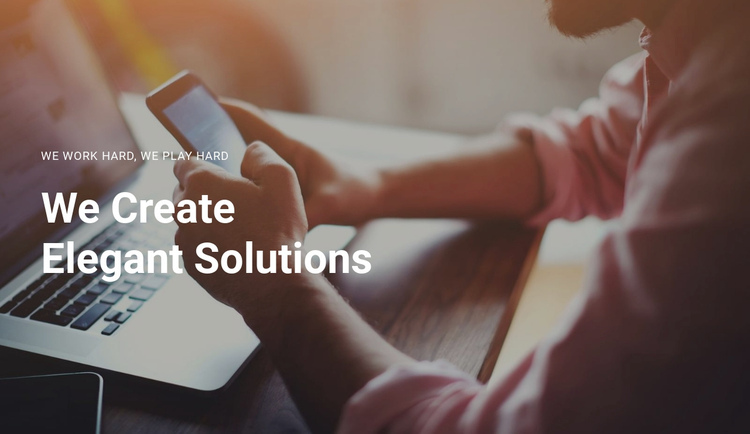 Create your business  One Page Template