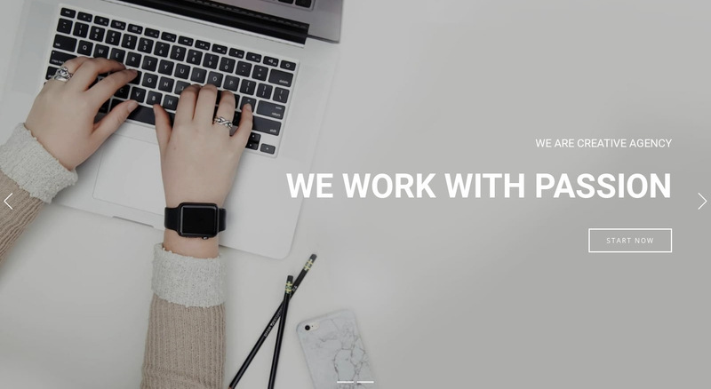 work with passion  Web Page Designer