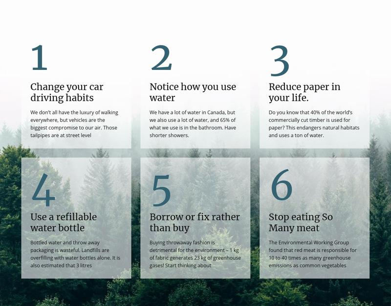 6 good green habits Web Page Designer