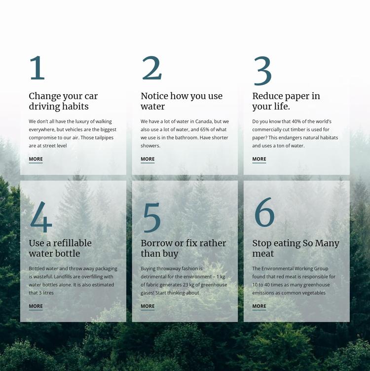 6 good green habits Website Builder Software