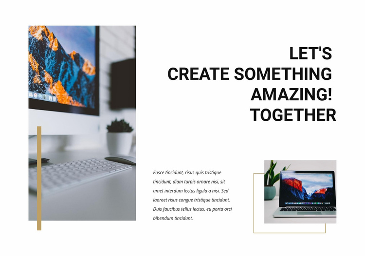 Lets create amazing Website Template