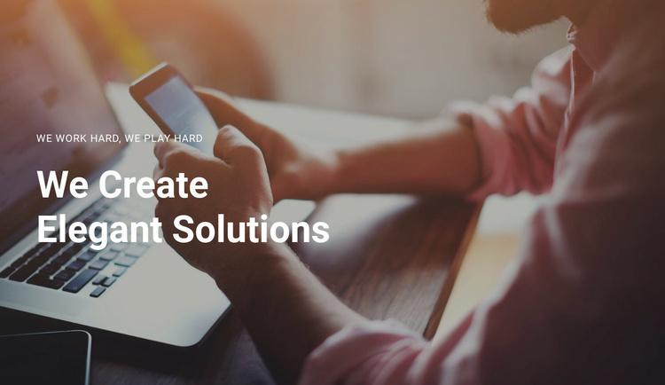 Create your business  Website Template