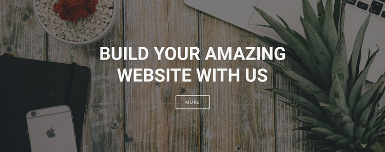 We build websites for your business Homepage Design