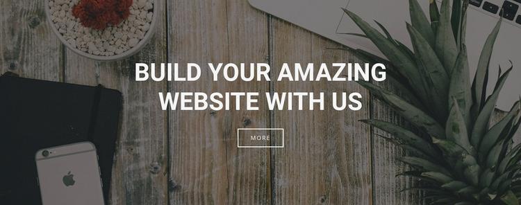 We build websites for your business Website Mockup