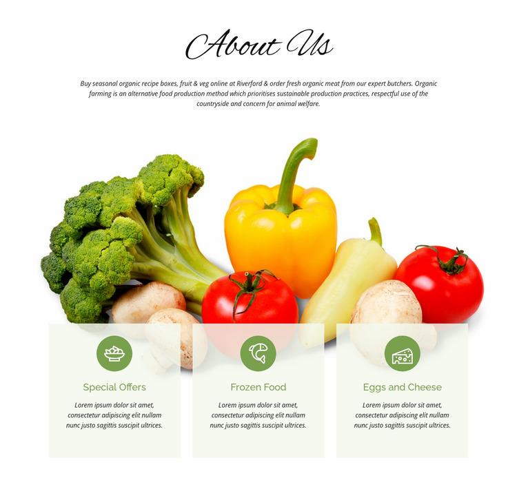Agriculture farming Website Mockup