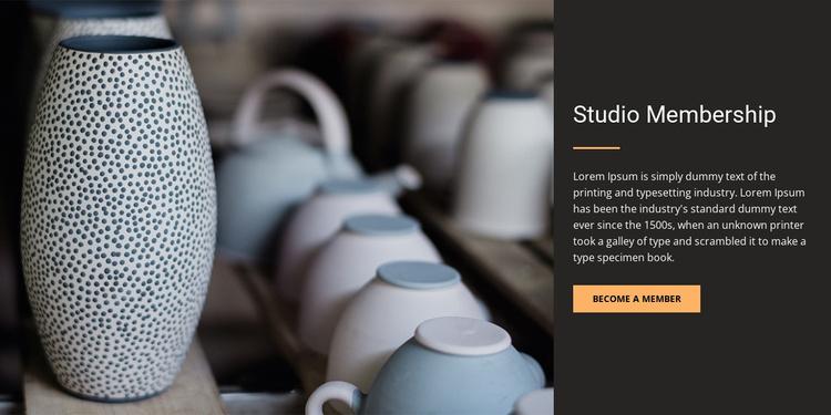 Studio membership Website Template