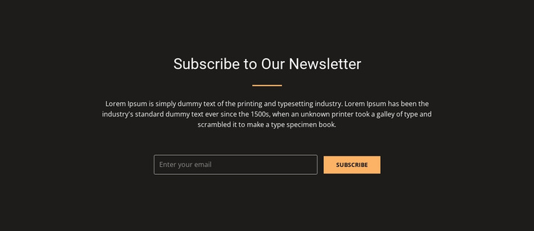 Subscribe now and receive 20% discount Website Template