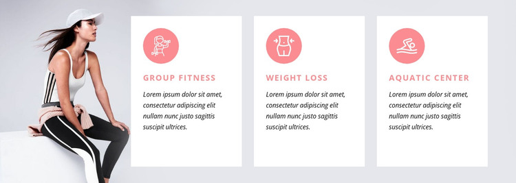 Fitness programs and specialty classes HTML Template