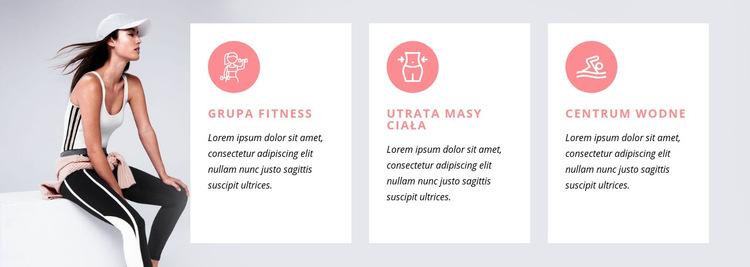 Programy fitness i zajęcia specjalistyczne Szablon witryny sieci Web