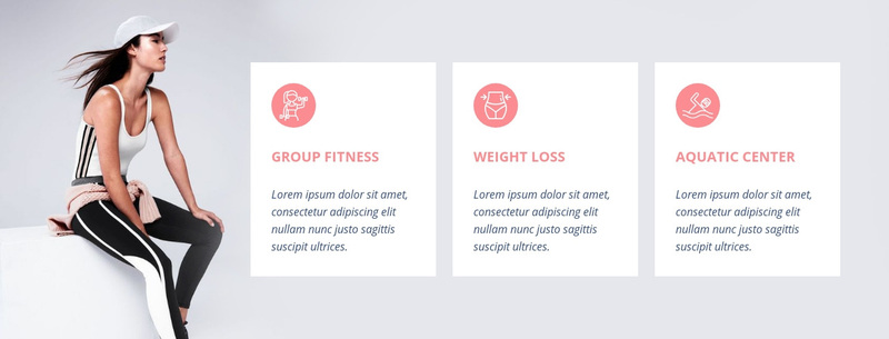 Fitness programs and specialty classes Web Page Design